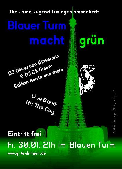 Flyer: Blauer Turm macht grün!