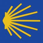 Zeichen des Jakobswegs (von Skarabeusz in Wikipedia unter CC-Lizenz)